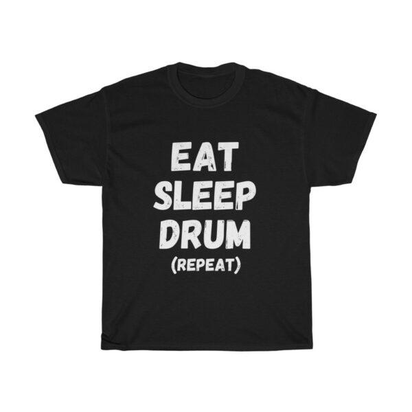 drum slogan t-shirt