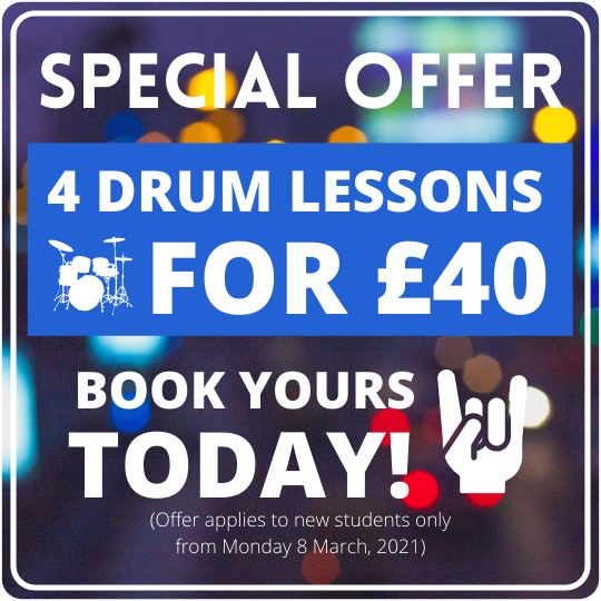 Drum lesson special offer